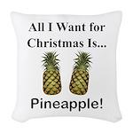 Christmas Pineapple Woven Throw Pillow