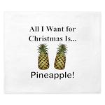 Christmas Pineapple King Duvet