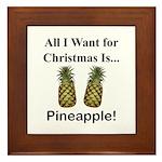Christmas Pineapple Framed Tile