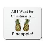 Christmas Pineapple Mousepad