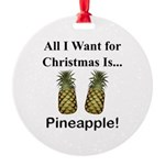 Christmas Pineapple Round Ornament