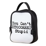 You Cant AUTOCORRECT Stupid Neoprene Lunch Bag