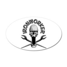 Ironworker Skull Wall Decal
