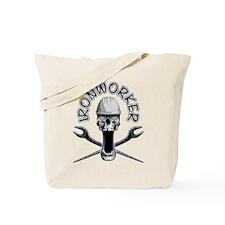 Ironworker Skull Tote Bag