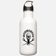 Ironworker Skull Water Bottle