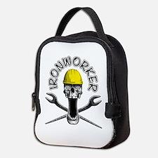 Ironworker Skull 2 Neoprene Lunch Bag