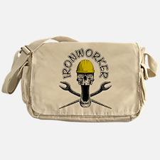 Ironworker Skull 2 Messenger Bag