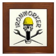 Ironworker Skull 2 Framed Tile