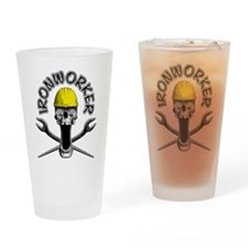Ironworker Skull 2 Drinking Glass
