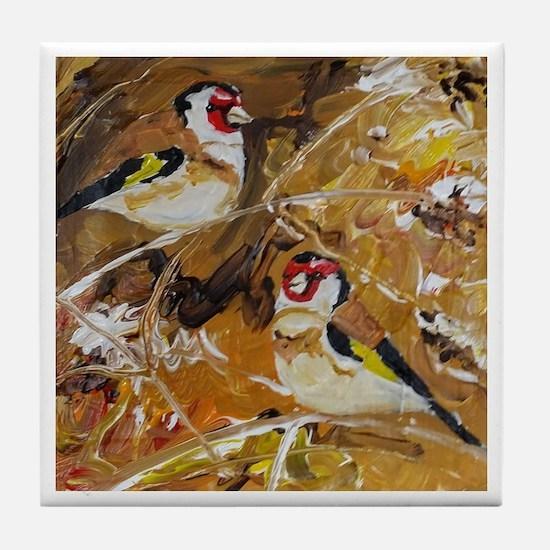 Cute Goldfinch Tile Coaster