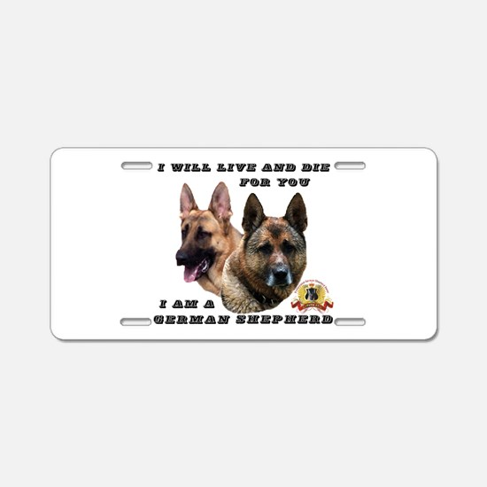 GSD Live and Die For You Aluminum License Plate
