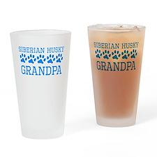 Siberian Husky Grandpa Drinking Glass