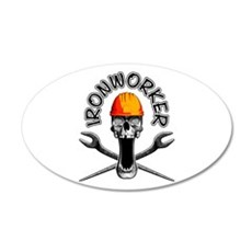 Ironworker Skull 3 Wall Decal
