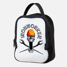 Ironworker Skull 3 Neoprene Lunch Bag