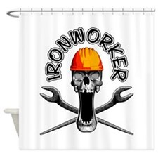 Ironworker Skull 3 Shower Curtain