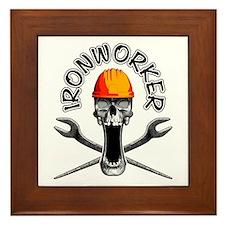 Ironworker Skull 3 Framed Tile