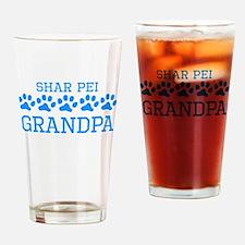 Shar Pei Grandpa Drinking Glass