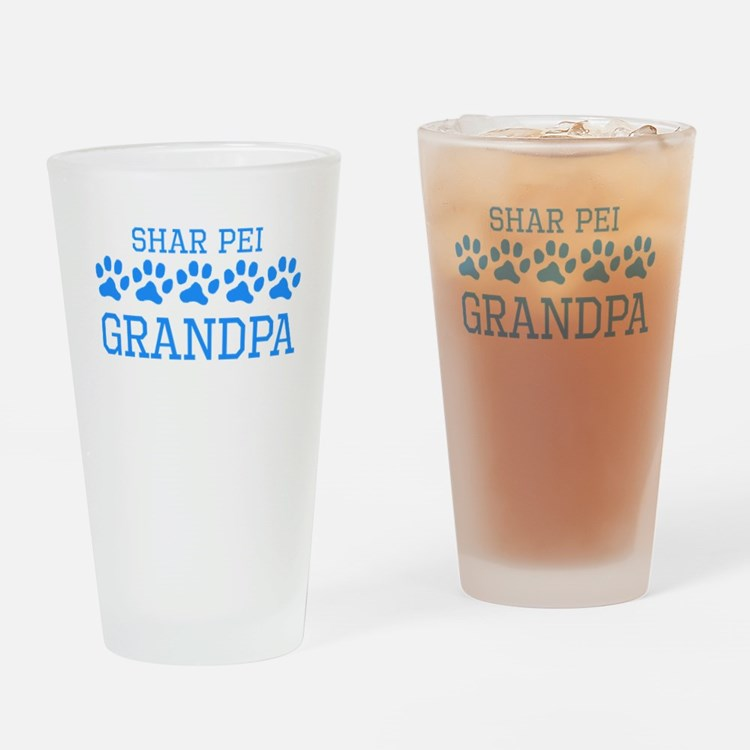 Shar Pei Grandpa Drinking Glass