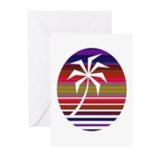 Beach Palm #1 Greeting Cards (Pk of 20)