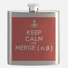 Keep Calm and Merge Alpha Flask