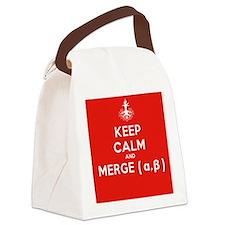 Keep Calm and Merge Alpha Canvas Lunch Bag