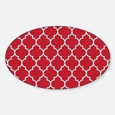 RED AND WHITE Moroccan Quatrefoil Decal