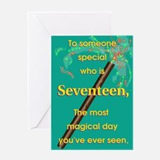 Magic 17th Birthday Card