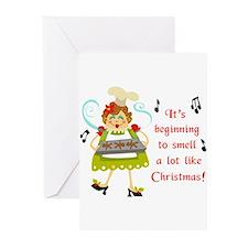 SMELLS LIKE CHRISTMAS Greeting Cards