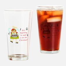 SMELLS LIKE CHRISTMAS Drinking Glass