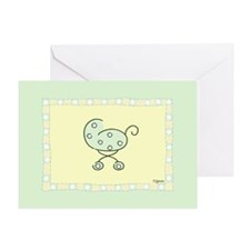 Green Baby Buggy Greeting Card