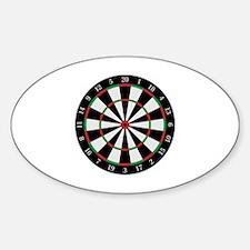 Cute Darts humor Sticker (Oval)