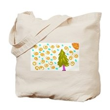 Walking Tree Snowy Tote Bag