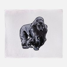 SILVERBACK GORILLA Throw Blanket
