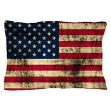 Grunge American Flag Pillow Case