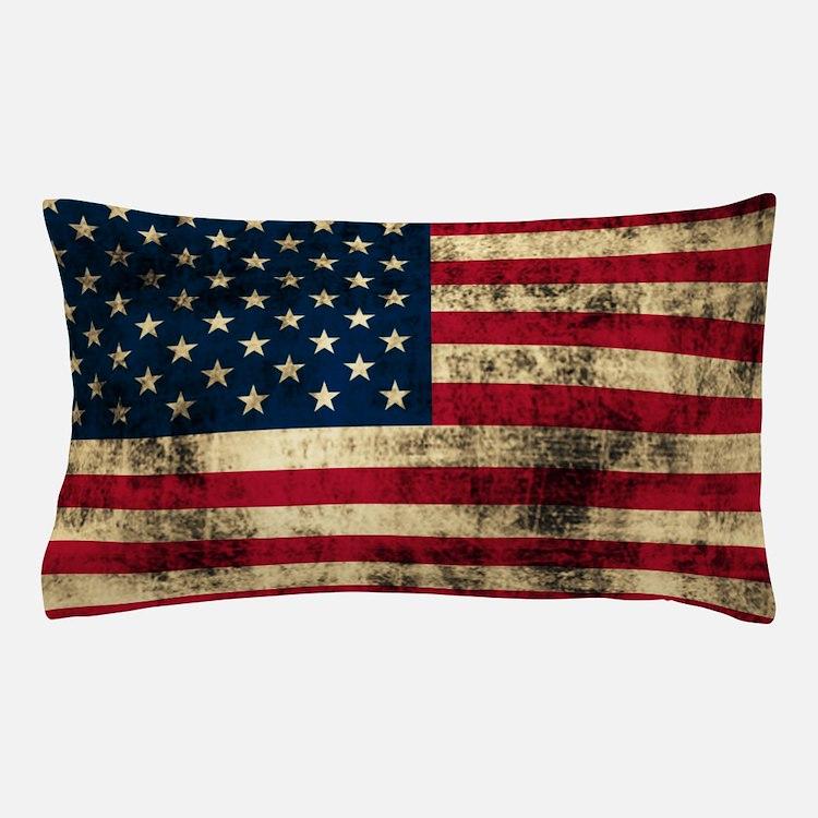 Grunge American Flag Pillow Case