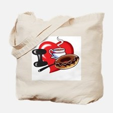 I Love Coffee and Donuts Tote Bag