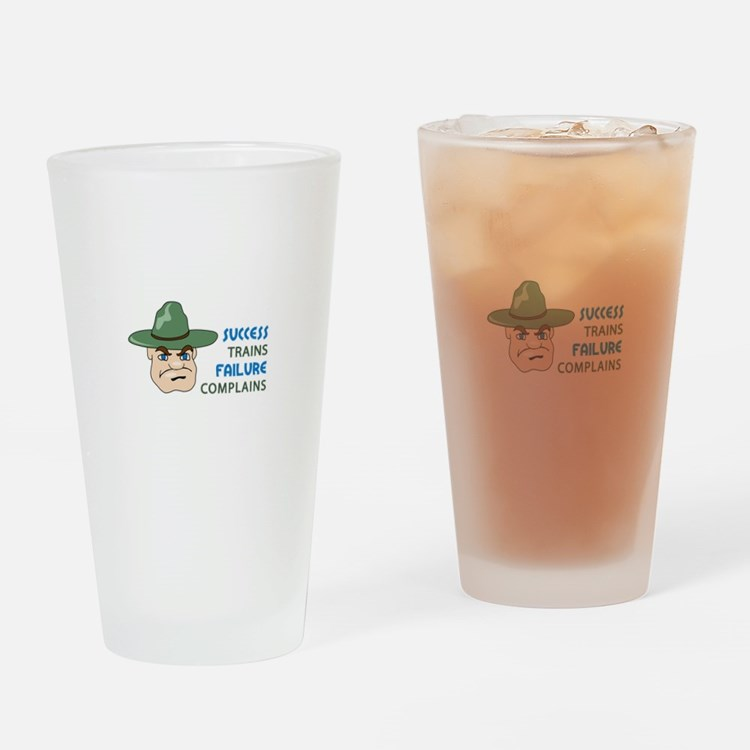 SUCCESS AND FAILURE Drinking Glass