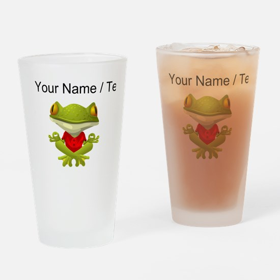 Custom Yoga Frog Drinking Glass