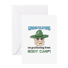 BOOT CAMP GRADUATE Greeting Cards
