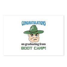 BOOT CAMP GRADUATE Postcards (Package of 8)