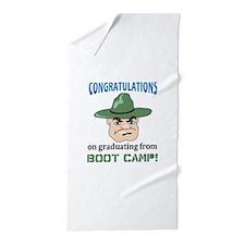 BOOT CAMP GRADUATE Beach Towel