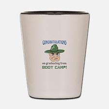 BOOT CAMP GRADUATE Shot Glass