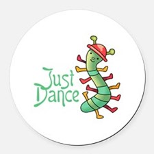 JUST DANCE Round Car Magnet