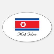 North Korea - Flag Oval Decal