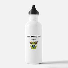 Custom Yoga Frog In Glasses Water Bottle