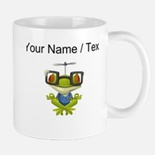 Custom Yoga Frog In Glasses Mugs