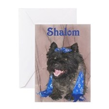 Shalom Cairn Terrier Greeting Card