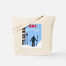 Ski Beacon Hill Boston Tote Bag