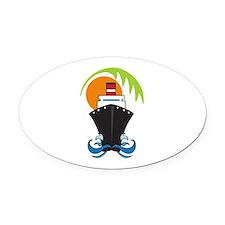 CARIBBEAN CRUISE Oval Car Magnet