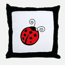 LADYBUG APPLIQUE Throw Pillow